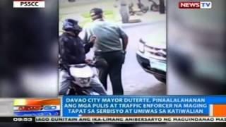 getlinkyoutube.com-NTG: Mayor Duterte: Mga pulis at traffic enforcer, maging tapat sa serbisyo at umiwas sa katiwalian