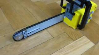 getlinkyoutube.com-Lego 1:1 Motorized Chainsaw