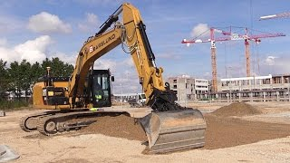 getlinkyoutube.com-Cat 324E Excavator With 3D GPS Grading: Out Side And Cab View