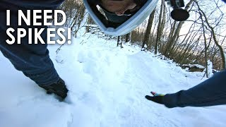I Should Have used SPIKED TIRES! - Snow Riding Ledgeview   B.C.