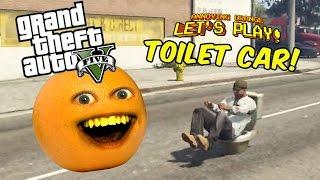 getlinkyoutube.com-Annoying Orange plays GTA V: TOILET CAR!!!