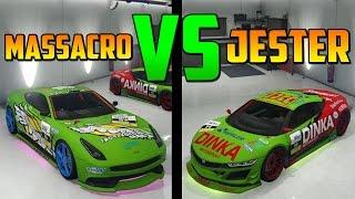 getlinkyoutube.com-Jester Carreras VS Massacro Carreras - Test de Velocidad - El Vehículo Mas Rápido de GTA 5 Online