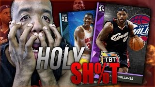 getlinkyoutube.com-HE GOT DIAMOND Hakeem Olajuwon & TBT LEBRON WTF! NBA 2k16 MyTeam Gameplay! HOLY SH&T