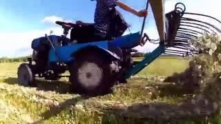 getlinkyoutube.com-Грабли. Мини трактор из мотоблока