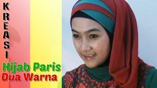 getlinkyoutube.com-Tutorial Hijab Paris Segi Empat Dua Warna Special Ramadhan & Lebaran