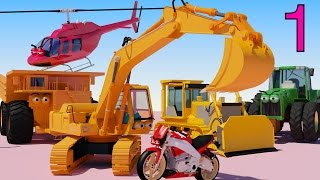 getlinkyoutube.com-One HOUR of AApV Cartoons - Diggers, Trucks, Helicopters, Bulldozers, Cars for Children