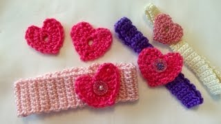 getlinkyoutube.com-How to crochet a heart, easy, Valentines day