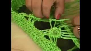 getlinkyoutube.com-cartera playera 7 - crochet  Muestra de tejido - Macrame sample