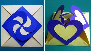 getlinkyoutube.com-Love card sealed with hearts - learn how to make a heart-lock greeting card - EzyCraft