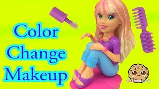 getlinkyoutube.com-Color Change Hair, Nails and Makeup with Polly Pocket Makeover Doll - Cookieswirlc Video