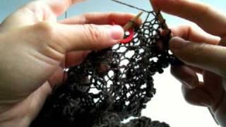 getlinkyoutube.com-Raindrop Lace Shawl - Chart E: Wrap and Turn