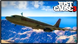 getlinkyoutube.com-Just Cause 3 CARGOPLANE GAMEPLAY! Crazy Stunts, Where to Find & More! (JC3 Funny Moments)