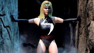 getlinkyoutube.com-Mortal Kombat X  MS. Marvel Kitana PC Mods Combat & Fatalities
