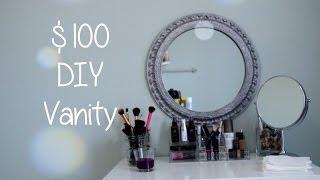 getlinkyoutube.com-$100 DIY Vanity Desk