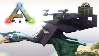 getlinkyoutube.com-SUPER CASA VOLADORA CON TORRETAS!! QUETZAL NIVEL +200! - VillaTuber #46 - ARK: Survival Evolved