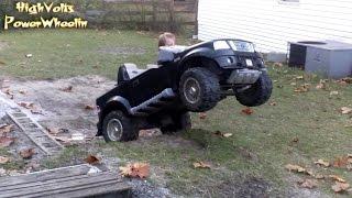 getlinkyoutube.com-High Volts PW - Powerwheels Ford F-150 Doing Wheelies & Hill Climb