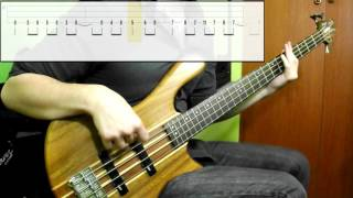 getlinkyoutube.com-Muse - Psycho (Bass Cover) (Play Along Tabs In Video)