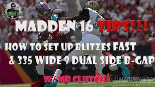 getlinkyoutube.com-Madden 16 | How to Set Up Blitz Fast | Nickel 335 Wide Blitz Dual Sides