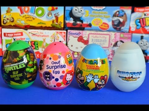 Surprise Eggs TMNT Sanrio Hello kitty Dinasuar eggs Super mario brothers AMAZING !!!