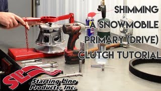 getlinkyoutube.com-Shimming a Snowmobile Primary (Drive) Clutch Tutorial