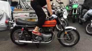 getlinkyoutube.com-旧車!KAWASAKI W3 サウンド エンジン始動動画 W650-RS ダブル