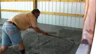 getlinkyoutube.com-Bat Shop Concrete Floor Pour - Time Lapse