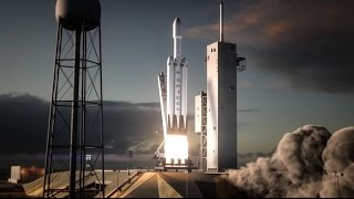 getlinkyoutube.com-Falcon Heavy  | Flight Animation