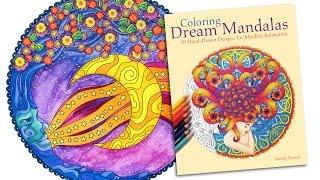 getlinkyoutube.com-Moon Mandala Time Lapse Coloring for Grown Ups