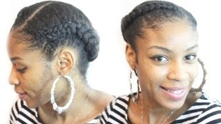 getlinkyoutube.com-Goddess Braid on Natural Hair