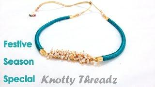 getlinkyoutube.com-How to make a Silk Thread Necklace - Piped !!