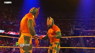 getlinkyoutube.com-Raw - Sin Cara's match with Cody Rhodes is interrupted by a second Sin Cara