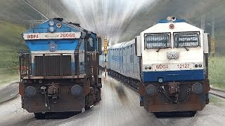 getlinkyoutube.com-CLASHING Trains INDIAN RAILWAYS Unlimited !