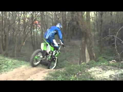 Kawasaki KX 250 in the Forest Ivo 166
