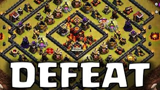 getlinkyoutube.com-How to Defeat Square Base TH10 - 2 Ways to 3 Star Attack in Clan War | Clash of Clans