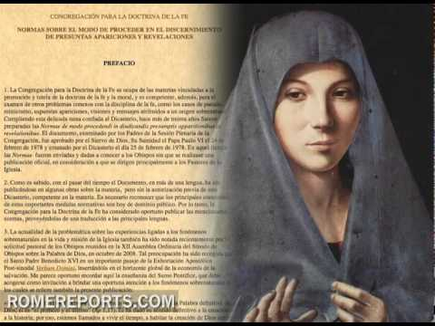 Vaticano explica en su web cmo comprueba las apariciones y revelaciones