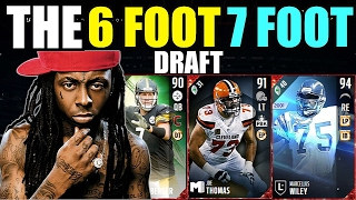 getlinkyoutube.com-THE 6 FOOT 7 FOOT DRAFT! TALLEST PLAYER IN EVERY ROUND! Madden 17 Draft Champions