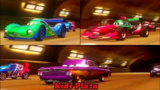 getlinkyoutube.com-Cars 2 Game Play - 3 player Battle Race  05