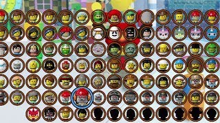 getlinkyoutube.com-THE LEGO MOVIE VIDEOGAME - ALL CHARACTERS UNLOCKED