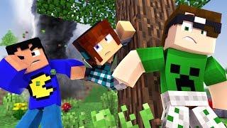 getlinkyoutube.com-Minecraft: LUTAMOS COM UMA TEMPESTADE! (100 Desafios)