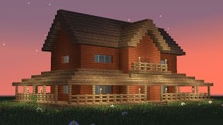 getlinkyoutube.com-MINECRAFT: How to build big wooden house #5