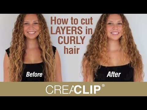 How to cut LAYERS in CURLY hair- Layered hairstyle