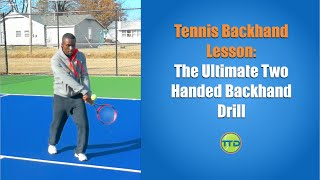 getlinkyoutube.com-Tennis Backhand Lesson: The Ultimate Two Handed Backhand drill