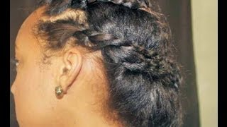 getlinkyoutube.com-Cute Protective Hairstyle for Transitioning Hair