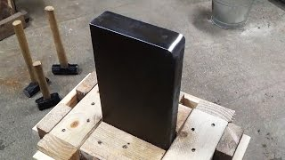 getlinkyoutube.com-How to Make a 100 Pound Scrap Steel Post Anvil and Stand for Blacksmithing and Knife Making