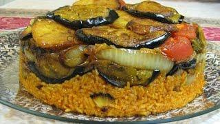 getlinkyoutube.com-مقلوبة. مقلوبة الرز الاحمر باللحم  - أكلات عراقية. Maqluba (مقلوبة). iraqi food