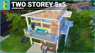 getlinkyoutube.com-The Sims 4 House Building - Two Storey 5x5