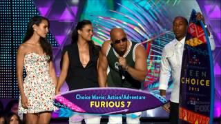 getlinkyoutube.com-Furious7 & PaulWalker win at 2015 TCA's - VinDiesel, MichelleRodriguez, Ludacris, JordanaBrewster