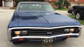1969 Chevrolet Impala SS 427 Matching Numbers, Hideaway lights