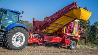 Grimme SE 260 2-row potato harvester with the new unloading bunker