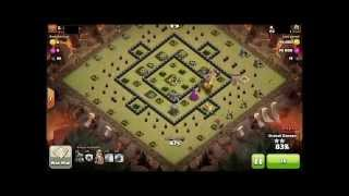 getlinkyoutube.com-Level 2 Dragon vs Level 6 Air Defense (Maxed Th8) - Clash of Clan